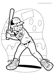 Small Picture Baseball Coloring Pages