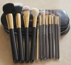 best professional makeup brush set. 2016 best 12pcs professional cosmetic makeup brush set pouch case with 2 zipper bag a