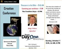 emmanuel baptist church creation conference skip tilton