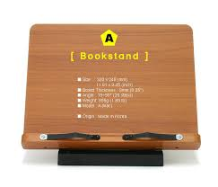 portable book stand wooden reading desk holder lilac a