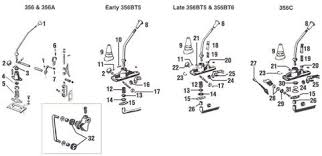 porsche 356 gear shift lever components and parts shift lever components