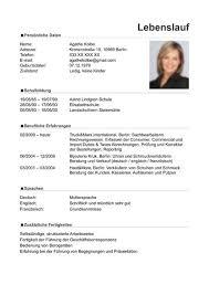 sample resume german