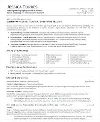 Teaching Resume Enchanting Substitute Teacher Resume Sample Teaching Resumes Examples Samples