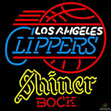 Shiner Neon Light Shiner Bock Los Angeles Clippers Neon Sign Nba Teams Neon