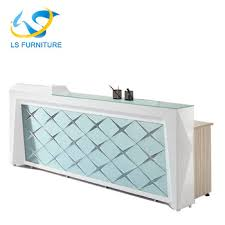 office glass tables. 2018 New Design Office Glass Reception Desk Tables