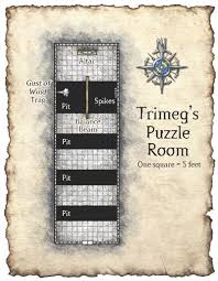 Trimegs Puzzle Room In 2019 Dungeon Maps Fantasy Map