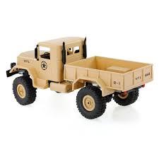 Khaki 4WD 1:16 <b>RC Truck 2.4G Remote Control Crawler</b> Car Military ...