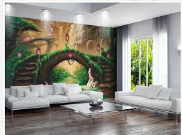 Wall Mural For Living Room Custom Any Size European Aesthetic Fantasy Fairy Tale Tv Wall