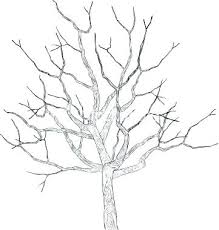 Winter Tree Template Best Photos Of Winter Tree Template Printable Outline Family Free 4