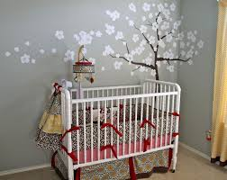breathtaking nursery room design with white baby cribs