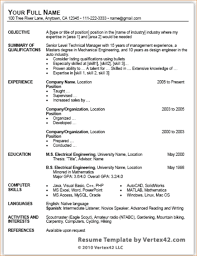 Resume Template Cv Form Format Free Templates In Word For 93