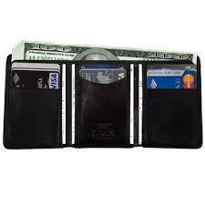 Tri Fold Window Mens Leather Tri Fold Wallet Case With Id Window Italian Leather By Tony Perotti