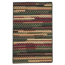 rectangular braided rugs hearth rectangular winter 5 ft x 7 ft braided area rug rectangular wool