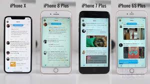 Iphone 6 7 8 Comparison Chart Speed Test Iphone X Vs Iphone 8 Plus Vs Iphone 7 Plus Vs Iphone 6s Plus