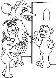 Coloring Pages Of Sesame Street Characters Gallery Sesame Street