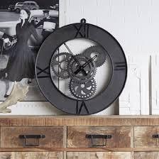 merope large metal factory wall clock