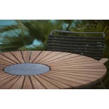 round dining table circle bamboo and