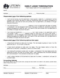 7 Printable Lease Termination Form Pdf Templates Fillable Samples