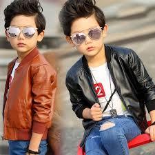 new boys coats faux leather jackets 2 colors children fashion outerwear spring autumn kid boy jacket