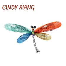 <b>CINDY XIANG New</b> Fashion Multi <b>color</b> Dragonfly Brooches for ...