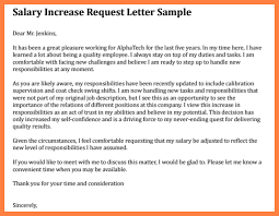 pay raise letter samples salary increase request letter cover letter samples cover letter
