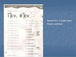 Saxon phonics and spelling combines systematic, explicit instruction with daily practice opportunities and ongoing assessment to ensure prior knowledge sticks and new knowledge. Phonics Power Point