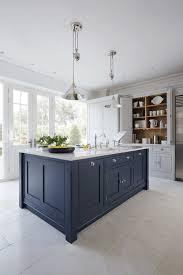 luxury blue painted kitchen