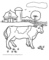 Small Picture Cow Coloring Pages Printable farm cow coloring page HonkingDonkey