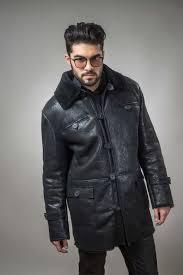 fur coat for men made out of natural lamb fur