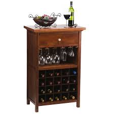 Winsome Vicenza 20 Bottle Wine Table with Glass Storage