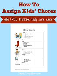 Zone Cleaning Chart For Kids How To Assign Kids Chores With A Free Printable Daily Zone
