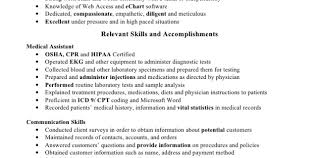skills for a medical assistant medical assistant skills for resume jmckell com