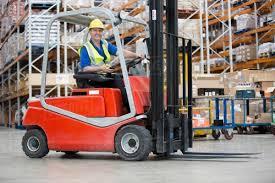 Man Driving Forklift Truck Stock Photo Dissolve