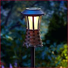 tiki lighting. Solar Tiki Lights Powered A Brown Woven Party Torch Light  Led Lighting