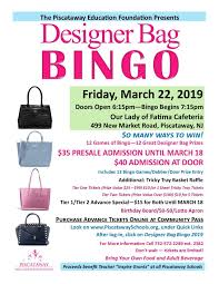 Designer Bag Bingo 2019 Designer Bag Bingo South Jersey 2019
