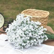 40cm gypsophila baby s breath artificial silk flower plant home wedding decoration decorative flowers bridal bouquet decorat affordable wedding flowers