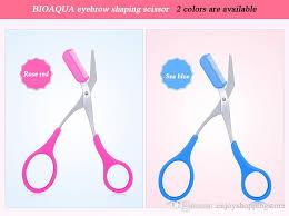 eyebrow scissors. bioaqua eyebrow trimmer scissors comb lady woman men hair removal grooming shaping shaver eye brow eyelash clips best pencil s