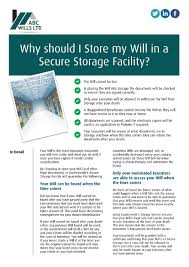 will maker direct online will writing software why should i store my will in a secure storage facility
