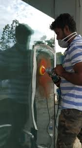 custom glass window and door scratch removal service