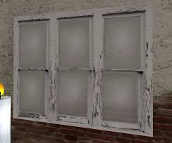 window wall art old white paint wood window wall art window pane wall art