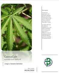 Cannabis Cultivation Business Plan Template For Indoor/outdoor Growing