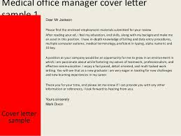 Medical Office Manager Cover Letter Clinic Administrator Cover Letter Sample Medical Office Manager