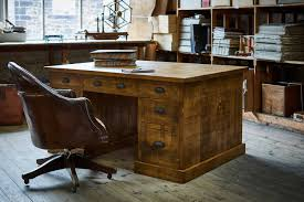 wood home office. The Grand Partner\u0027s Plank Desk Wood Home Office