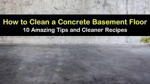 to clean a concrete basement floor