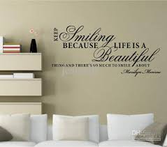 keep smiling marilyn monroe wall quote decal sticker decor lettering saying vinyl wall art decals vinyl wall murals vinyl wall quotes from jeanwill  on marilyn monroe wall art quotes with keep smiling marilyn monroe wall quote decal sticker decor lettering