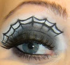 spider web eye makeup idea for