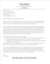 Free Senior Secretary Cover Letter Sample Templates At