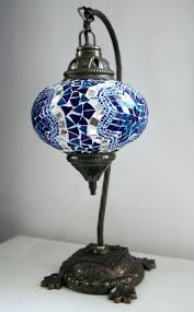 floor lamps turkish moroccan floor lamps blue mosaic desk lamp