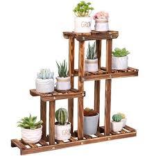 pine wood plant stand indoor outdoor