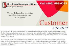 Customer Service Brookings Municipal Utilities